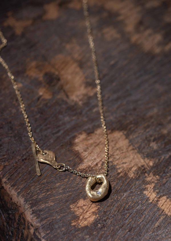 שרשרת עם טבעת זהב 18k