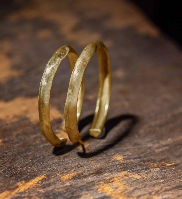 זוג עגיל גיפסי גזול זהב 18K