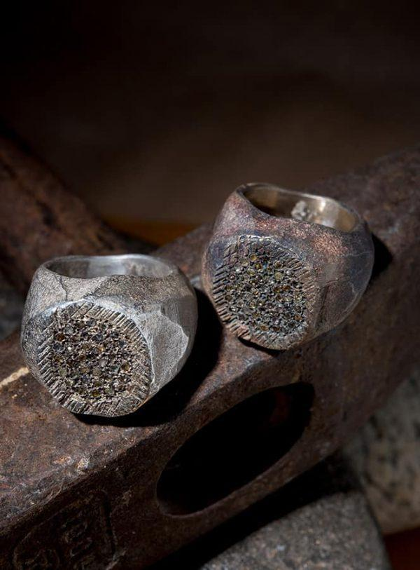 טבעת כסף חותם ענק