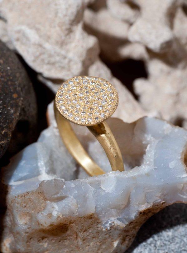 טבעת פטרייה זהב 18k