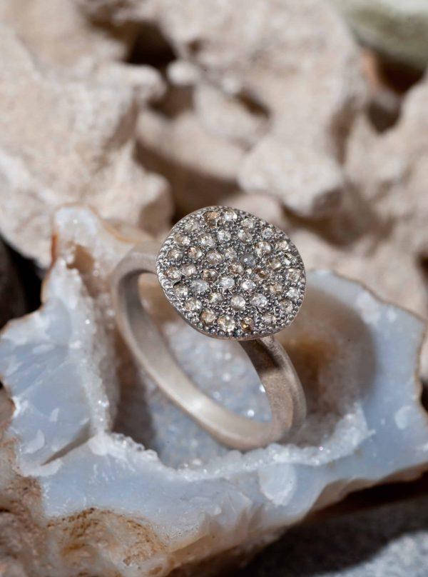 טבעת פטרייה כסף