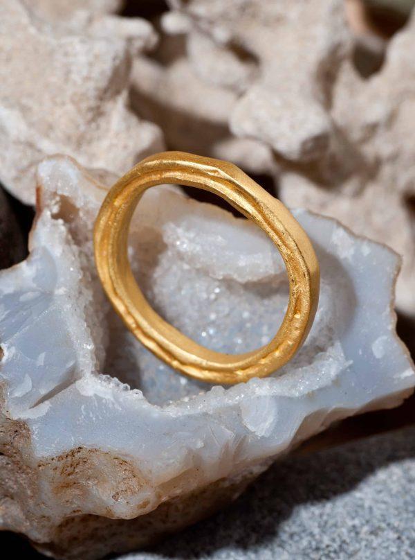 טבעת שכבות זהב 18k