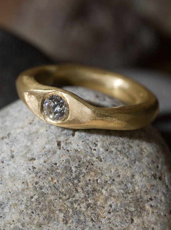 טבעת פזל זהב 14k
