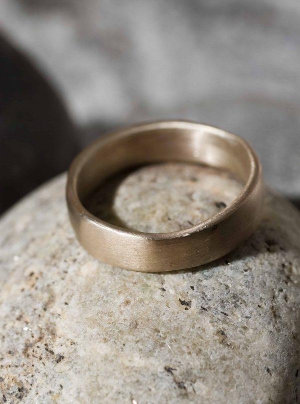 טבעת זהב 14k שטוחה