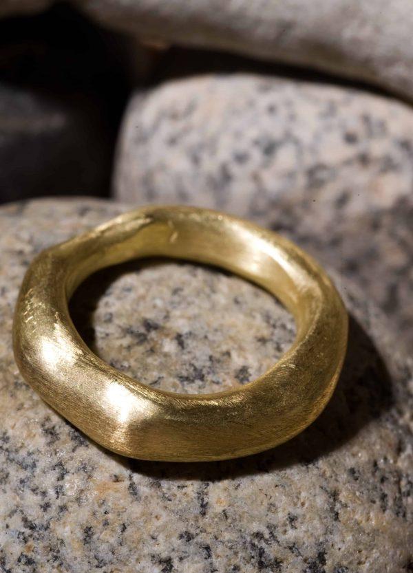 טבעת פזל 14k