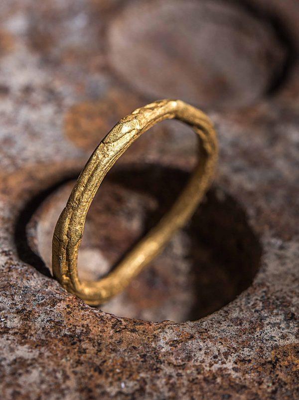 טבעת ענפים זהב 22k