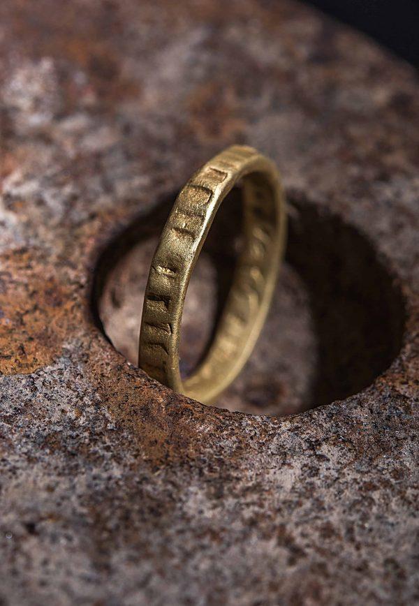 טבעת מלבנים זהב 18k