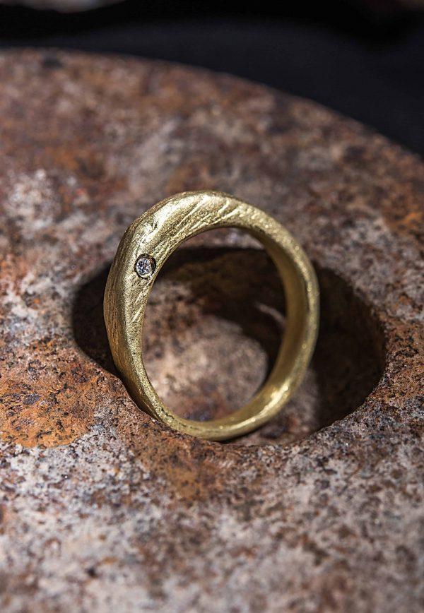 טבעת גשר זהב 18k