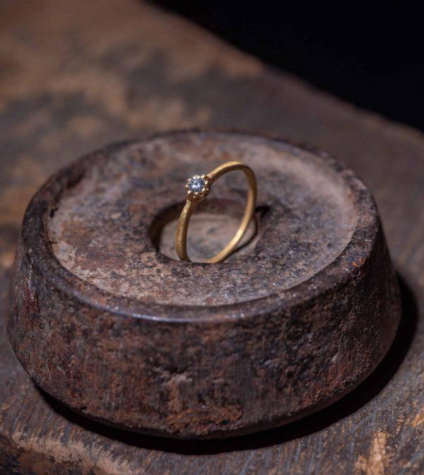 טבעת כתר 22k