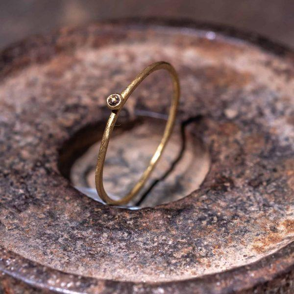 טבעת כדור עדין זהב 22k